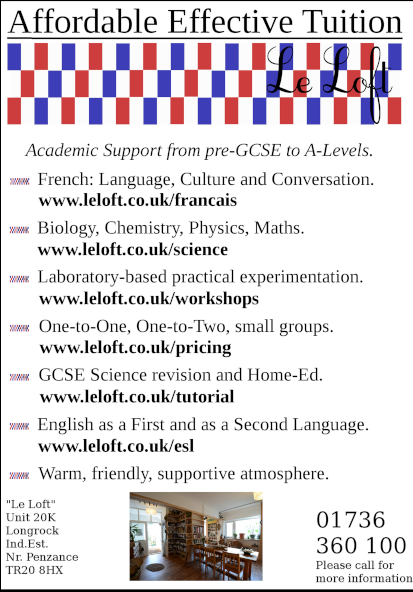 A few of the main links on leloft.co.uk